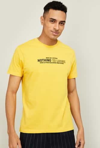 BOSSINI Men Printed Regular Fit Crew Neck T-shirt