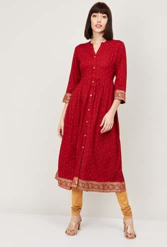 MELANGE Women A-Line Printed Dress