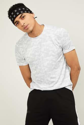 KAPPA Men Printed Short Sleeves Regular Fit T-shirt