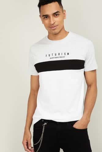 BOSSINI Men Colourblock Short Sleeves Regular Fit T-shirt