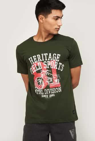 VAN HEUSEN Men Printed Crew Neck Lounge T-shirt
