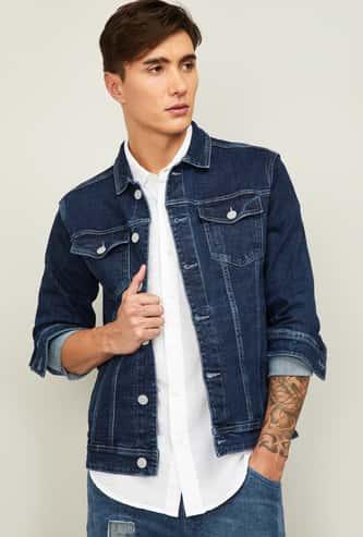 DENIMIZE Men Full Sleeves Regular Fit Denim Jacket