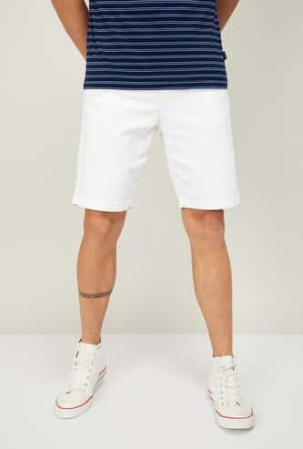 DENIMIZE Men Solid Regular Fit Casual Shorts