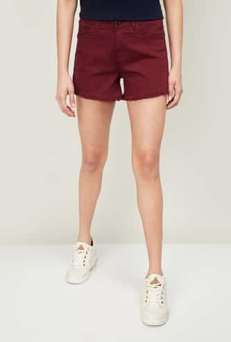 XPOSE Women Solid Denim Shorts