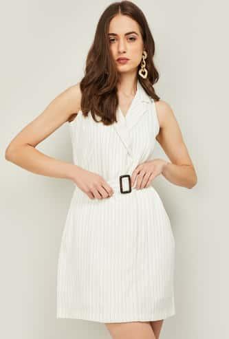 CODE Women Striped Mini Dress