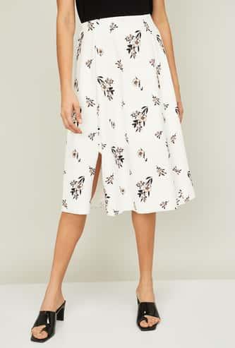 CODE Women Floral Printed Knee-length Skirt