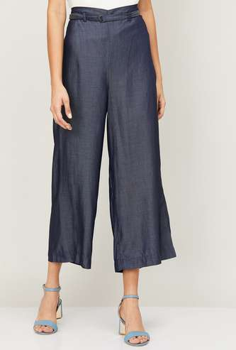 CODE Women Solid Palazzo Trousers