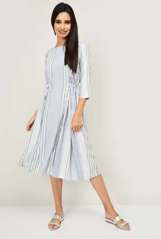 AURELIA Women Striped A-line Dress