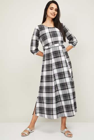 AURELIA Women Checked Maxi Dress