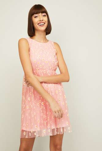 GINGER Women Printed A-line Dress