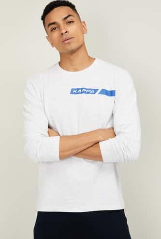 KAPPA Men Printed Regular Fit Crew Neck T-shirt