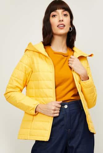 VAN HEUSEN Women Solid Hooded Puffer Jacket