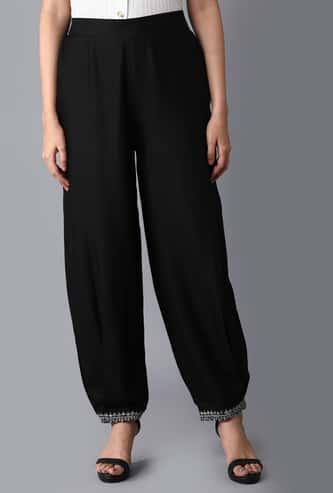 W Women Solid Elasticated Ethnic Pants