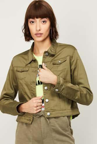 KRAUS Women Solid Woven Jacket