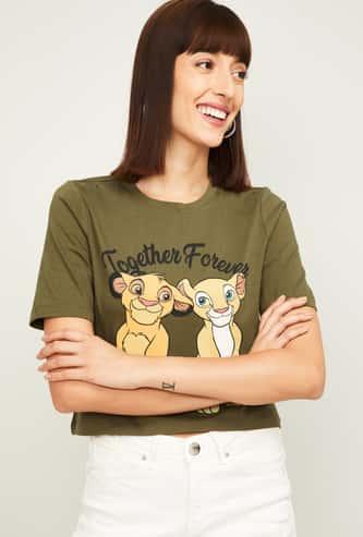 GINGER Women Printed T-Shirt