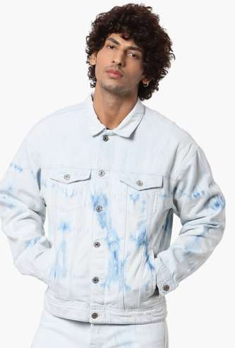 JACK & JONES Men Ombre-Dyed Casual Denim Jacket