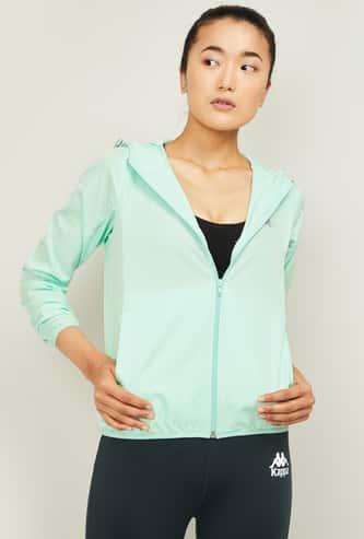 KAPPA Women Solid Hooded Sports Jacket