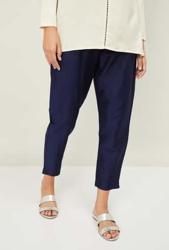 MELANGE Women Solid Cropped Pants