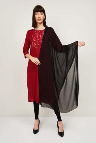 MELANGE Women Embellished Dupatta