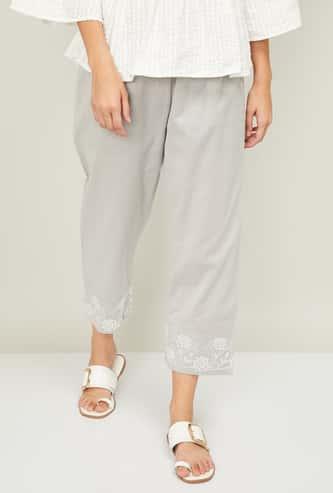 MELANGE Women Printed Woven Straight Pants