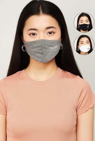 GINGER Women Printed Face Mask- Set of 3