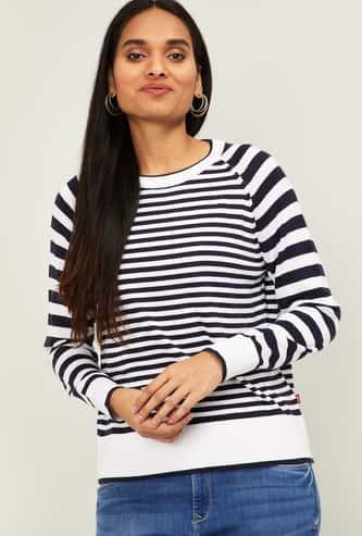 LEVIS'S Women Striped Round Neck T-shirt