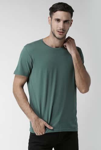 CELIO Men Solid Regular Fit T-shirt