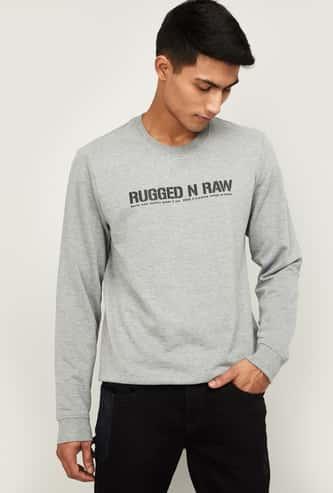 FORCA Men Printed Full Sleeves Sweatshirt