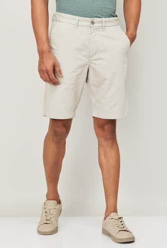 CODE Men Solid Regular Fit Woven Shorts