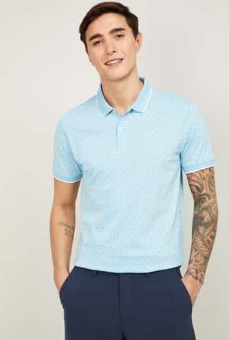 CODE Men Printed Polo T-shirt