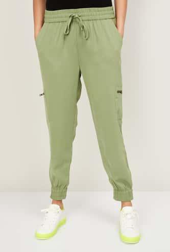 BOSSINI Women Solid Elasticated Jogger Trousers