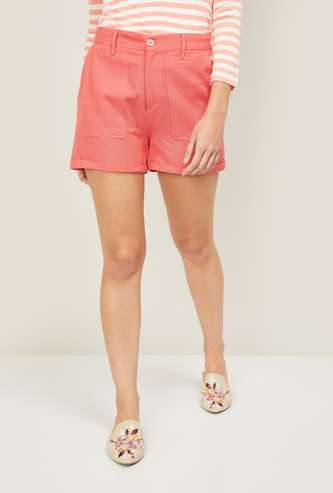 BOSSINI Women Solid Casual Shorts