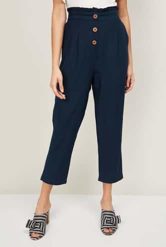 BOSSINI Women Solid Cropped Pants