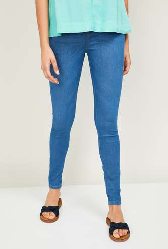 ALLEN SOLLY Women Stonewashed Skinny Fit Jeans