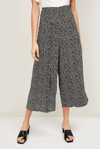 CODE Women Printed Elasticated Culottes