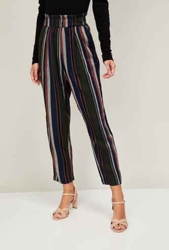 CODE Women Striped Trousers