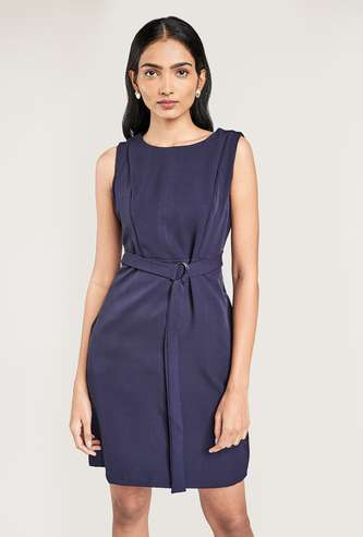 AND Women Solid Shift Dress
