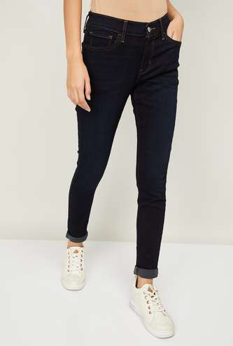 LEVI'S Women Washed Super Skinny Fit Jeans