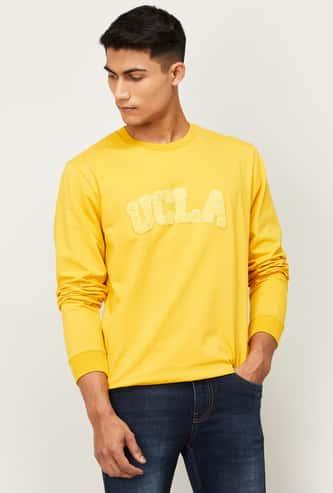 UCLA Men Applique Detail Full Sleeves Sweatshirt