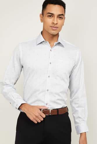 VAN HEUSEN Men Printed Full Sleeves Formal Shirt
