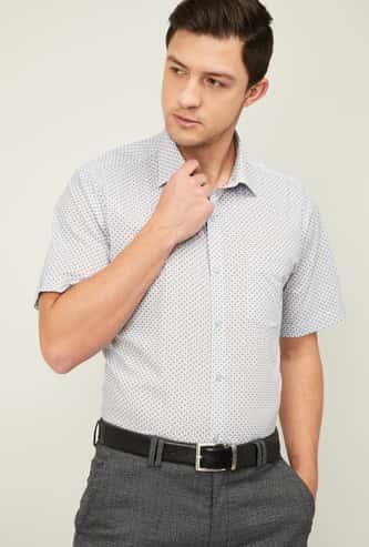 VAN HEUSEN Men Printed Regular Fit Formal Shirt