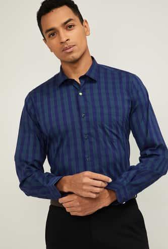 VAN HEUSEN Men Striped Full Sleeves Slim Fit Formal Shirt