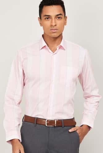 VAN HEUSEN Men Checked Slim Fit Formal Shirt
