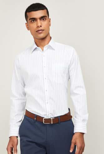 VAN HEUSEN Men Striped Slim Fit Formal Shirt
