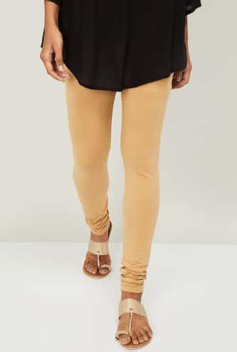 MELANGE Women Solid Churidar Leggings
