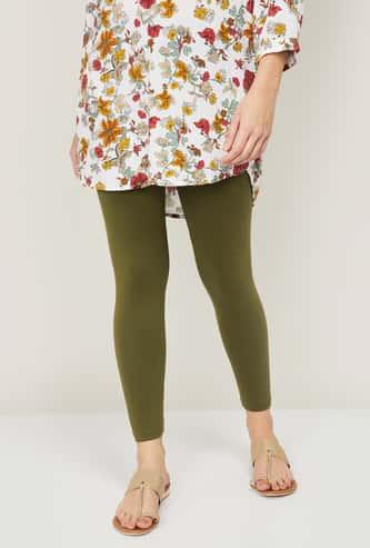 MELANGE Women Solid Ankle-Length Leggings