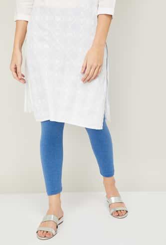 MELANGE Women Solid Elasticated Leggings