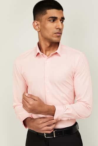 LOUIS PHILIPPE Men Textured Slim Fit Formal Shirt
