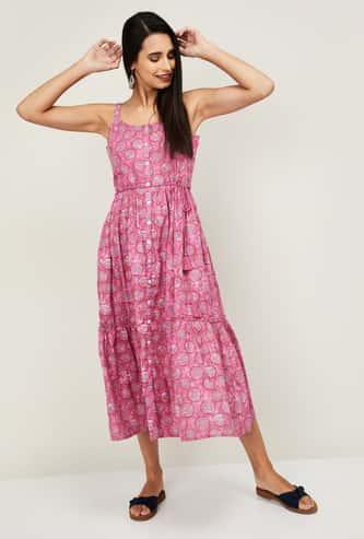 COLOUR ME Kyra Women Printed Ethnic A-Line Dress