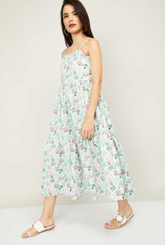 COLOUR ME Women Floral Printed A-Line Dress